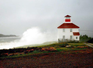 Port Bickerton Lighthouse: During a storm