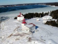 Click to explore our site! Port Bickerton Lighthouse:  Winter's Grasp