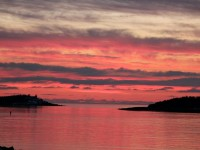Click to explore our site! Port Bickerton Lighthouse: Sunset