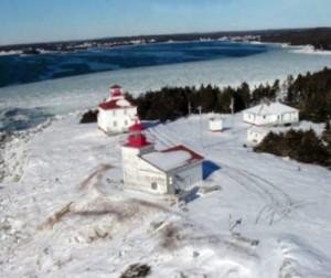 Port Bickerton Lighthouse: Winter's Grasp