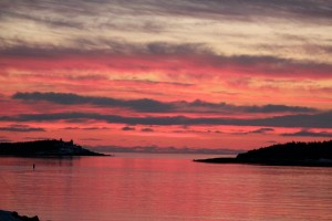 Port Bickerton Lighthouse: Sunset